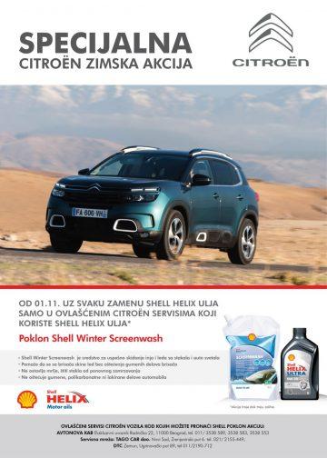 Citroen, zimska akcija, Shell Helix ulja, avtonova kab, zimsko