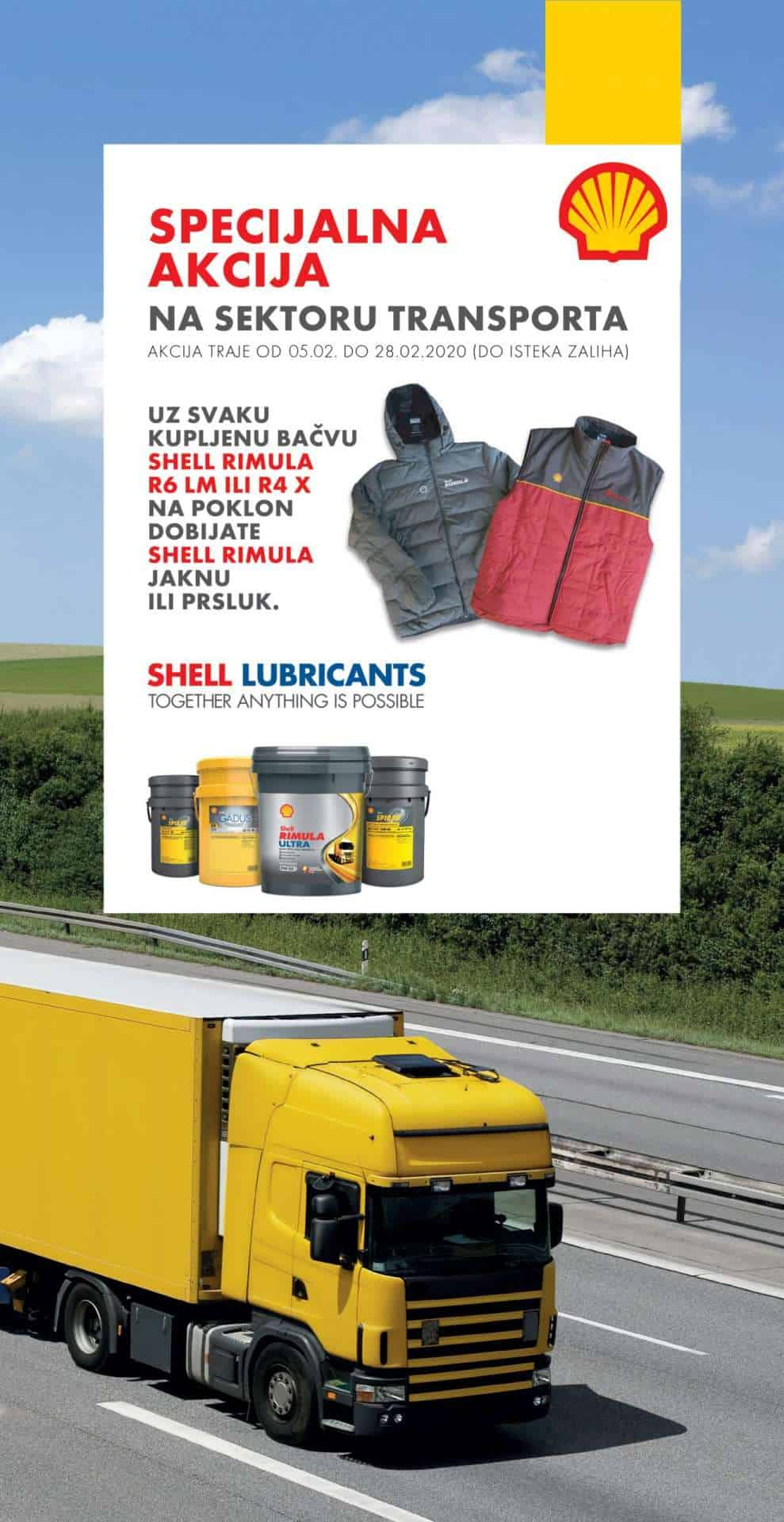 Shell Driveline kampanja, motorna ulja, kamion, shell prsluk, shell ranac, Shell Rimula ulja, Shell Rimula R4 X