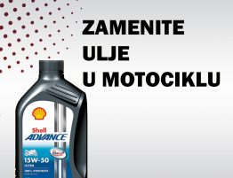 Zamenite ulje u motociklu Shell Advance