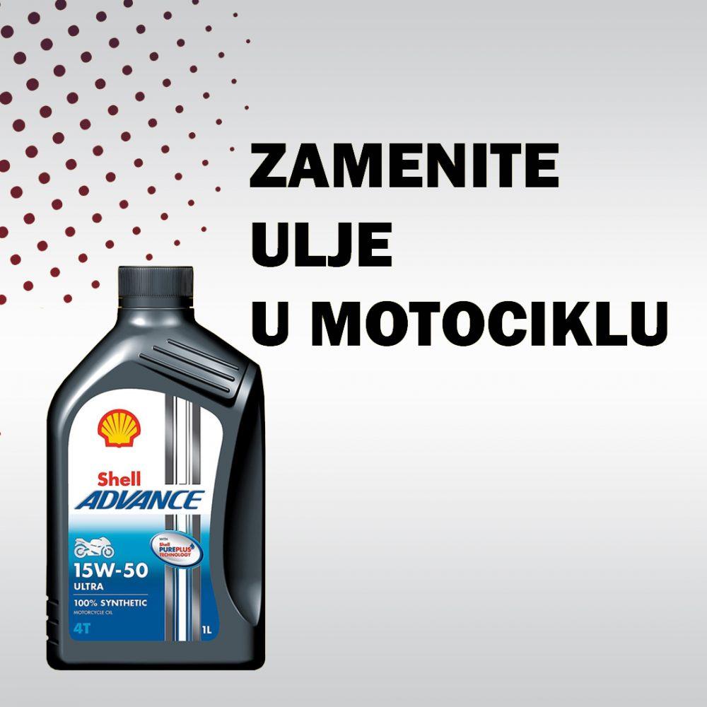 Zamenite ulje u motociklu Shell Advance