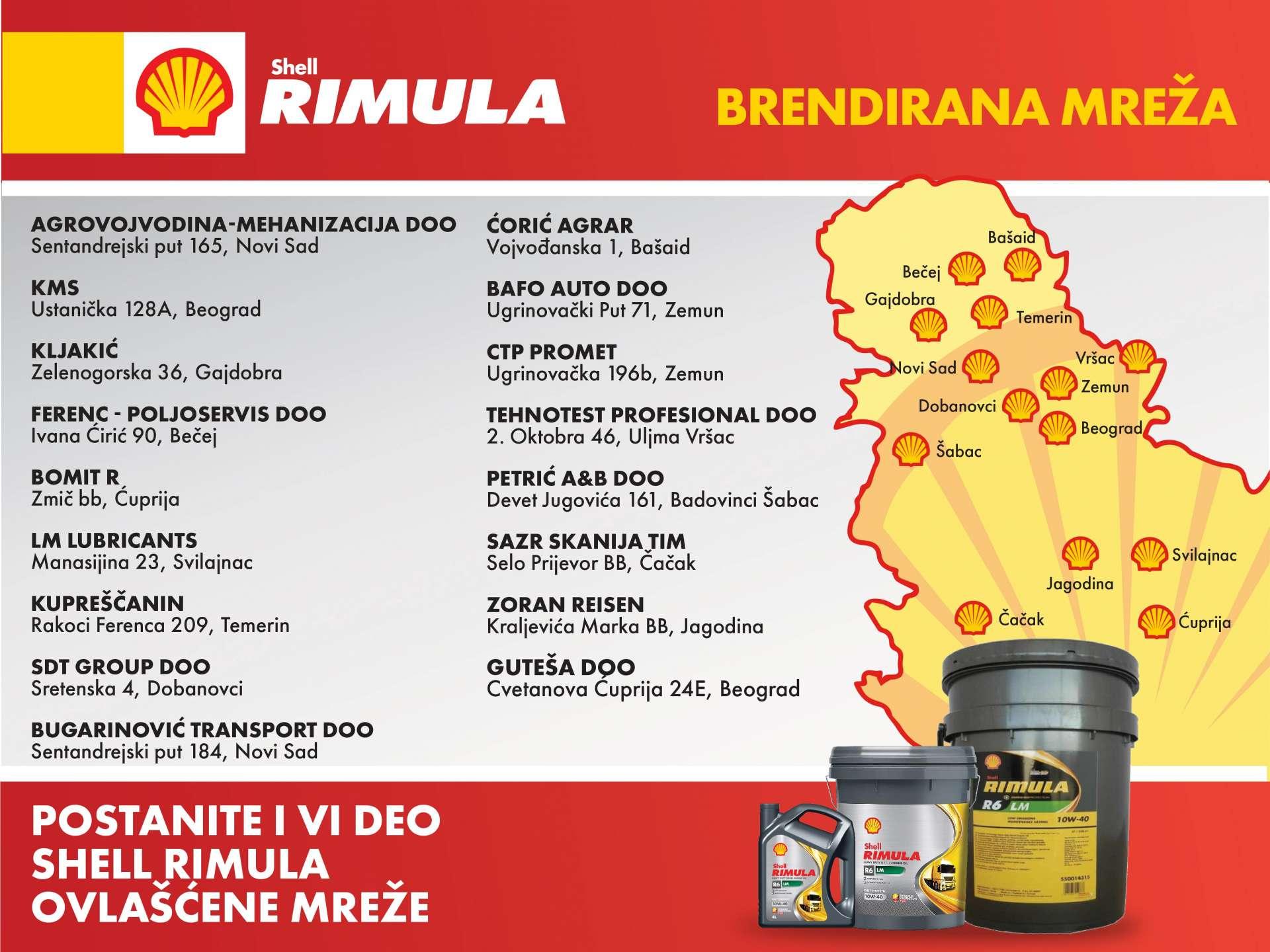 Shell RIMULA Brendirana mreža