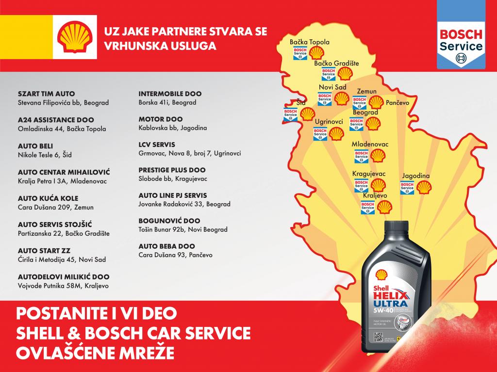Novi koncept Shell & Bosch car service ovlašćene mreže
