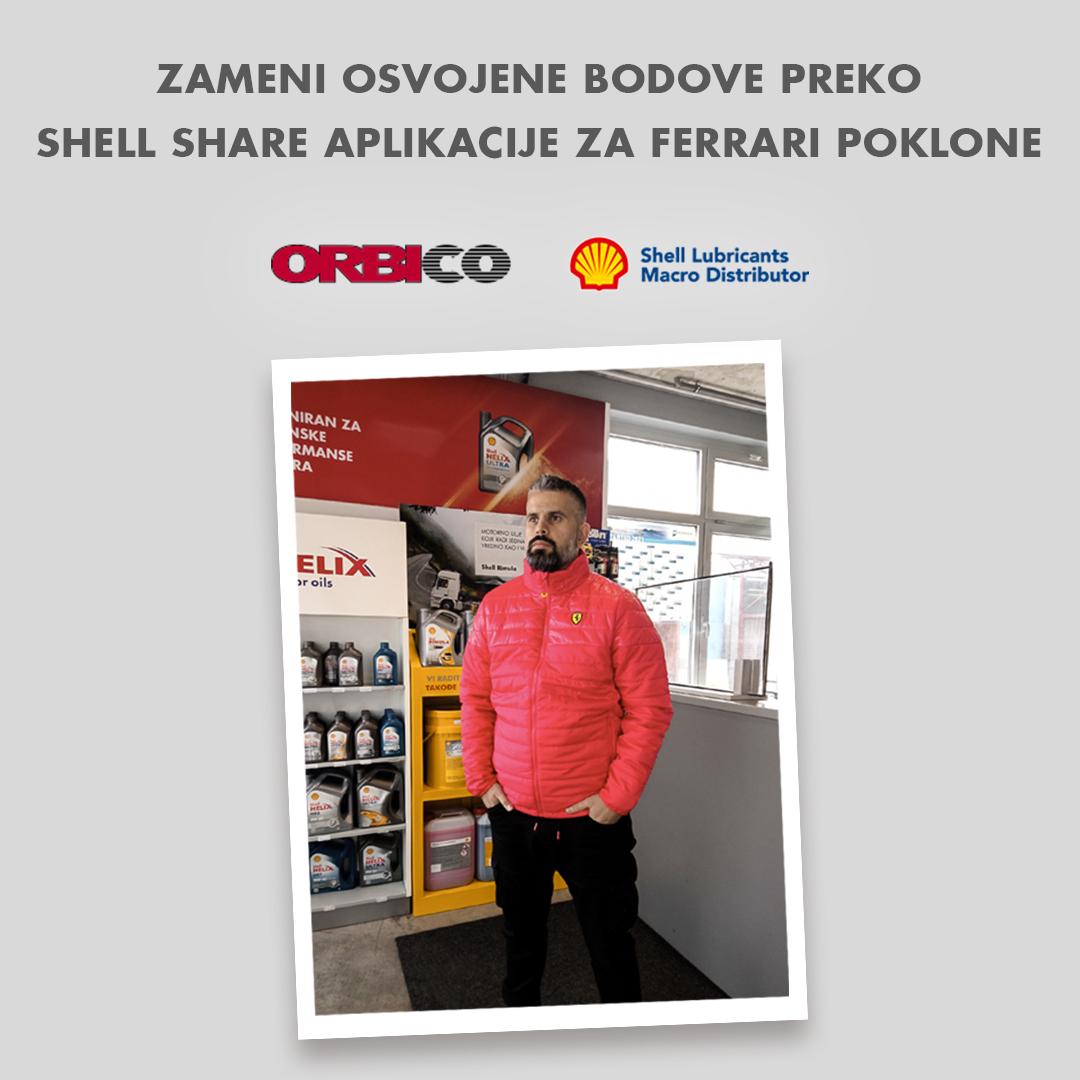 Zameni osvojene bodove preko Shell Share Aplikacije za Ferrari poklone